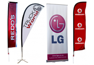 Pull up indoor banners. Sail flag outdoor banners.